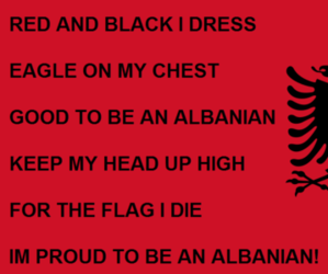 red and black albania image