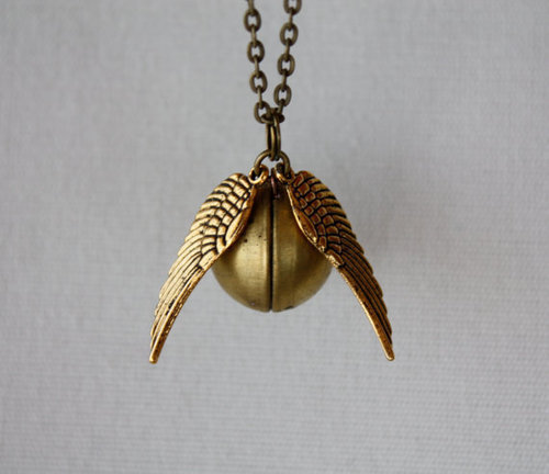 gold, golden snitch, and harry potter image