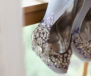 Couture, pink heels, and diamonds image