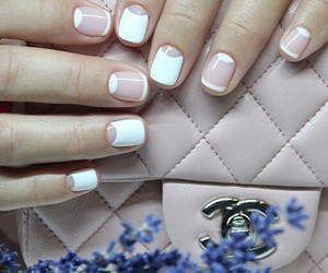 french, nail art, and white image