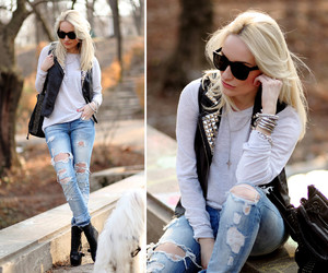 fashion, blonde, and girl image
