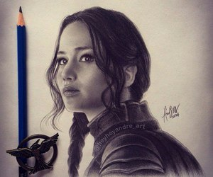 art, katniss, and drawing image