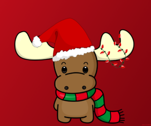 christmas, reindeer, and red image