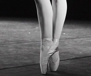 ballet, black and white, and punte image