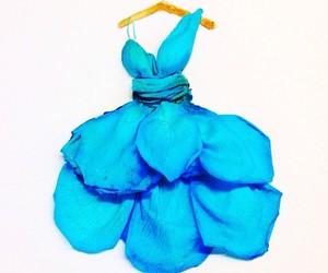 blu, dress, and flower image