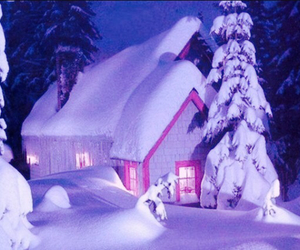 christmas, house, and snow image