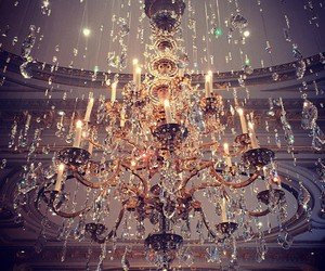 chandelier and gold image