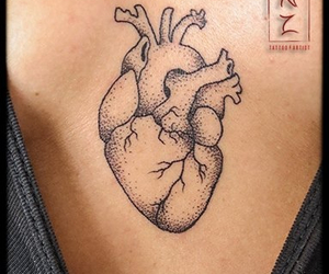 heart, real, and tattoo image