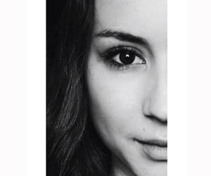 beautiful, black and white, and face image