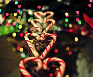 christmas, light, and candy image
