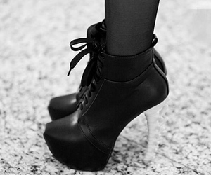 heels, black, and shoes image