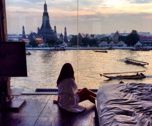 bangkok, girl, and happy image