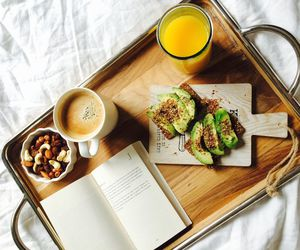 almonds, avocado, and bed image