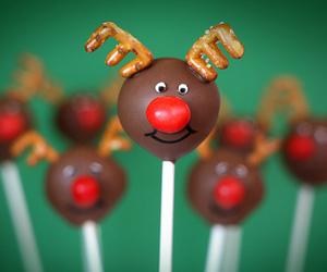 christmas, chocolate, and cake image