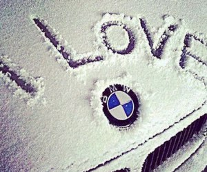 bmw, car, and winter image
