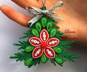 christmas, decoration, and quilling image