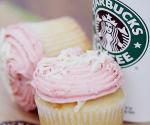 starbucks, cupcake, and pink image
