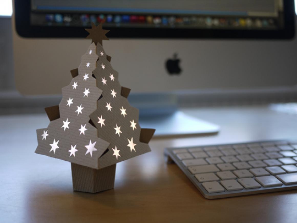 cardboard, christmas, and diy image