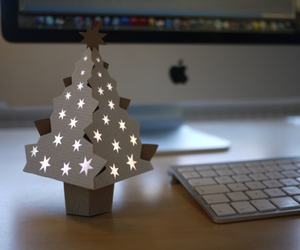 cardboard, christmas, and tree image