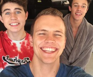 cameron dallas, jerome jarre, and snapchat image