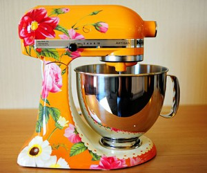 flowers, floral, and kitchen image