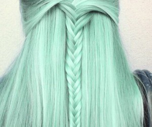 hair, verde, and hair color image