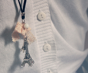 buttons, cardigan, and eiffel image