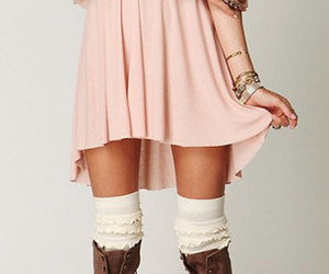 boots, jewelry, and socks image