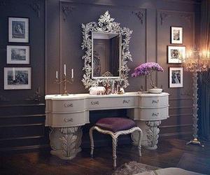 room, mirror, and luxury image