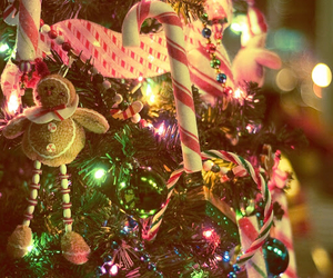 candycane, christmas, and gingerbread man image
