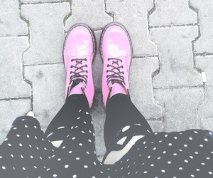 black and white, doc martens, and fab image