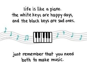 life, music, and piano image