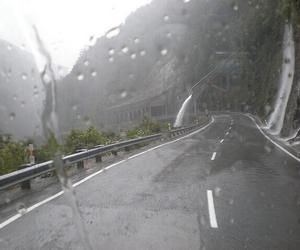 rain, road, and pale image