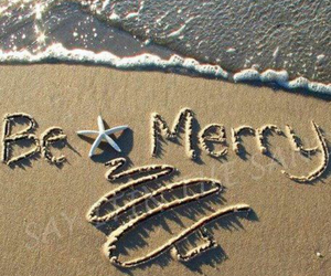 beach, christmas, and christmas tree image