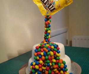 cake, m&m, and sweet image