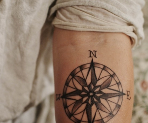 art, compass, and ink image