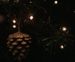 christmas, gold, and lights image