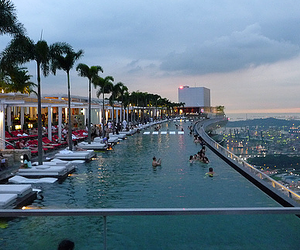 pool, city, and hotel image