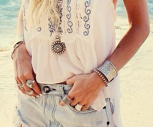baggy, necklace, and rings image
