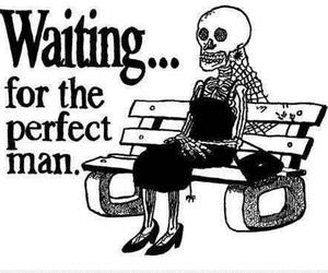 girl, waiting, and man image
