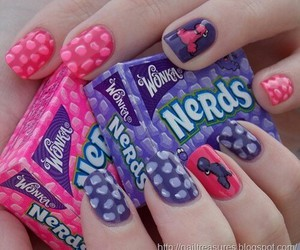 nerds, nails, and candy image