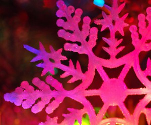 christmas, snowflake, and pink image