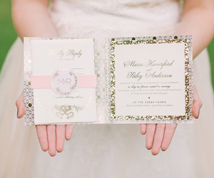 fancy, glamorous, and wedding invitation image