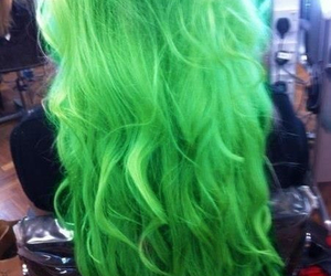 green, hair, and wow image