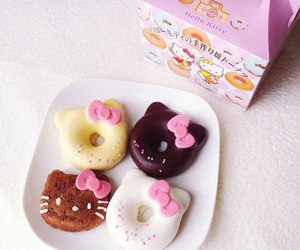 donuts, hello kitty, and food image