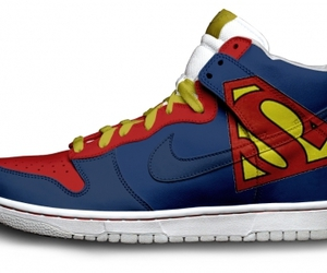 superman, nike, and shoes image
