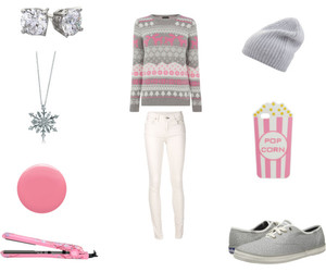 pink, fashion, and winter image