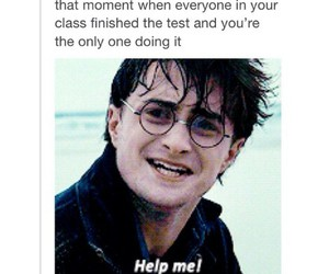 funny, test, and harry potter image