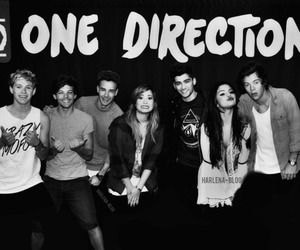 one direction, demi lovato, and selena gomez image
