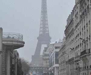 paris, snow, and city image